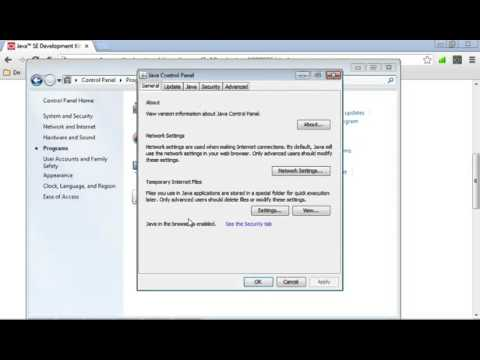 Disable Java in all browser using Java Control Panel