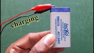 how to charge 4 volt battery