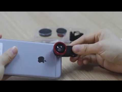 Universal Clip Lens (Fisheye/ Wide-angle/ Macro Lens) for cellphone Review - Test by iPhone 6