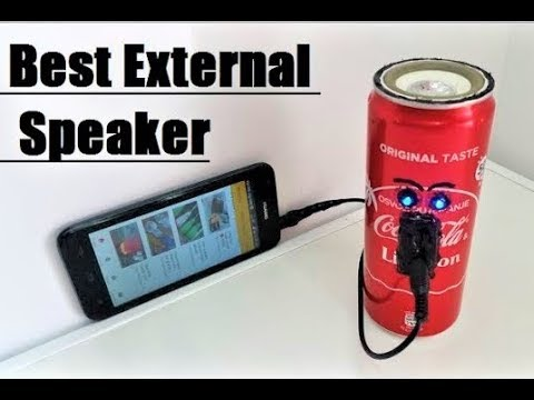 How to Make a Speaker at Home - Using Coca-Cola Cans