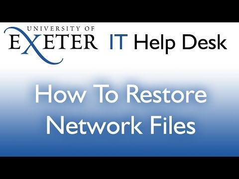 File Restore on a University computer