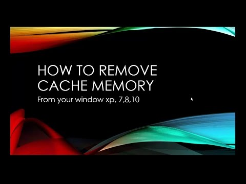 HOW TO REMOVE CACHE memory FROM PC/laptop