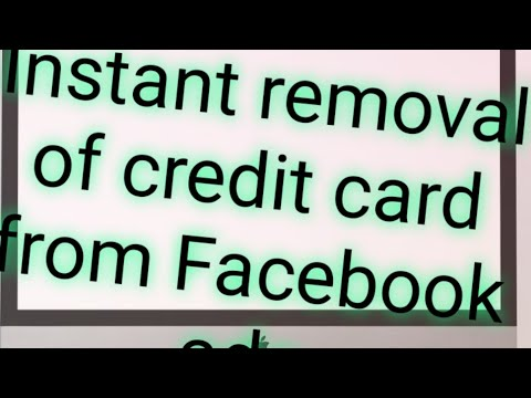 Easy method to remove paypal or credit card from Facebook