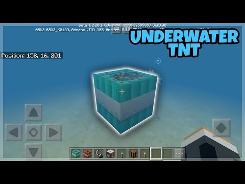 Minecraft PE: How to get a UnderWater TNT (Chemistry Update)