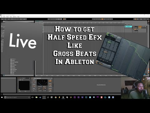 How To Get The Half Speed Effect Like 808 Mafia in Ableton No Gross Beats
