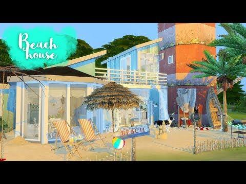 BEACH HOUSE Sims 4 || Speed Build || Simsbiosis