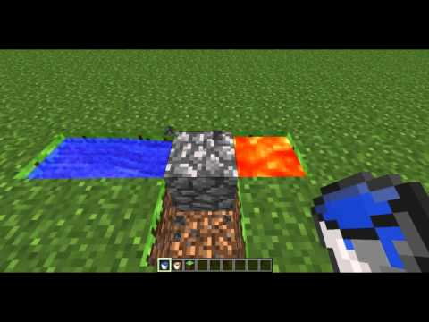 Minecraft - Simple Cobblestone Generator Tutorial [Skyblock] [Commentary]