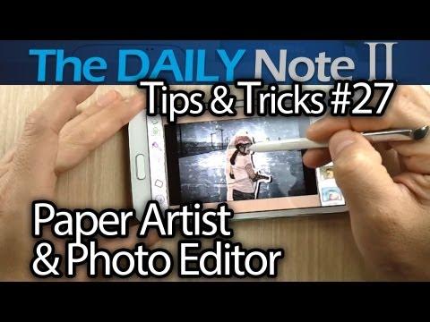 Samsung Galaxy Note 2 Tips & Tricks (Episode 27: Screenshots, Paper Artist, Photo Editor Review)