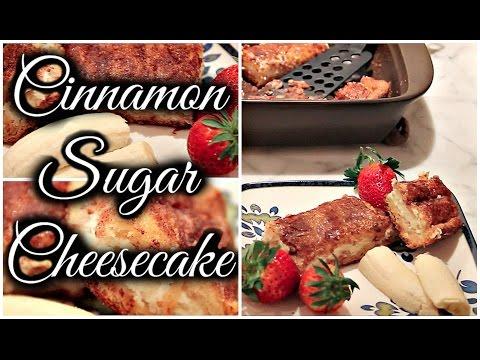 Cinnamon Sugar Cheesecake! (How to make) (English/Espanol)