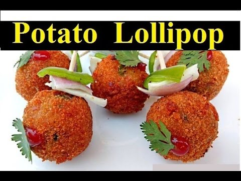 Potato Lollipop Recipe IN HINDI | Veg Party starters | party Snakes | (पोटैटो लोलीपोप)