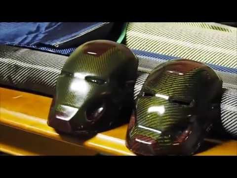 Making of Carbon Fibre Parts / Carbon Fibre Iron Man Mask - out of Carbon Fibre Fabric Cloth