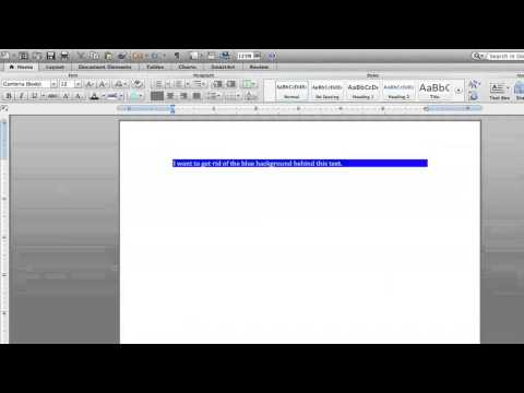 How to Get Rid of the Blue Highlights on Microsoft Word 2007 : Microsoft Word Help