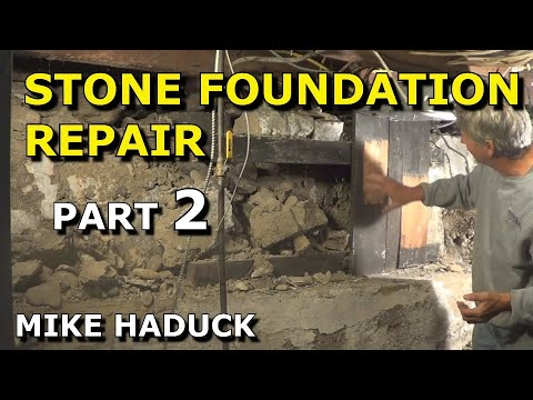Stone foundation repair (inside) Part 2 of 6 (Mike Haduck)