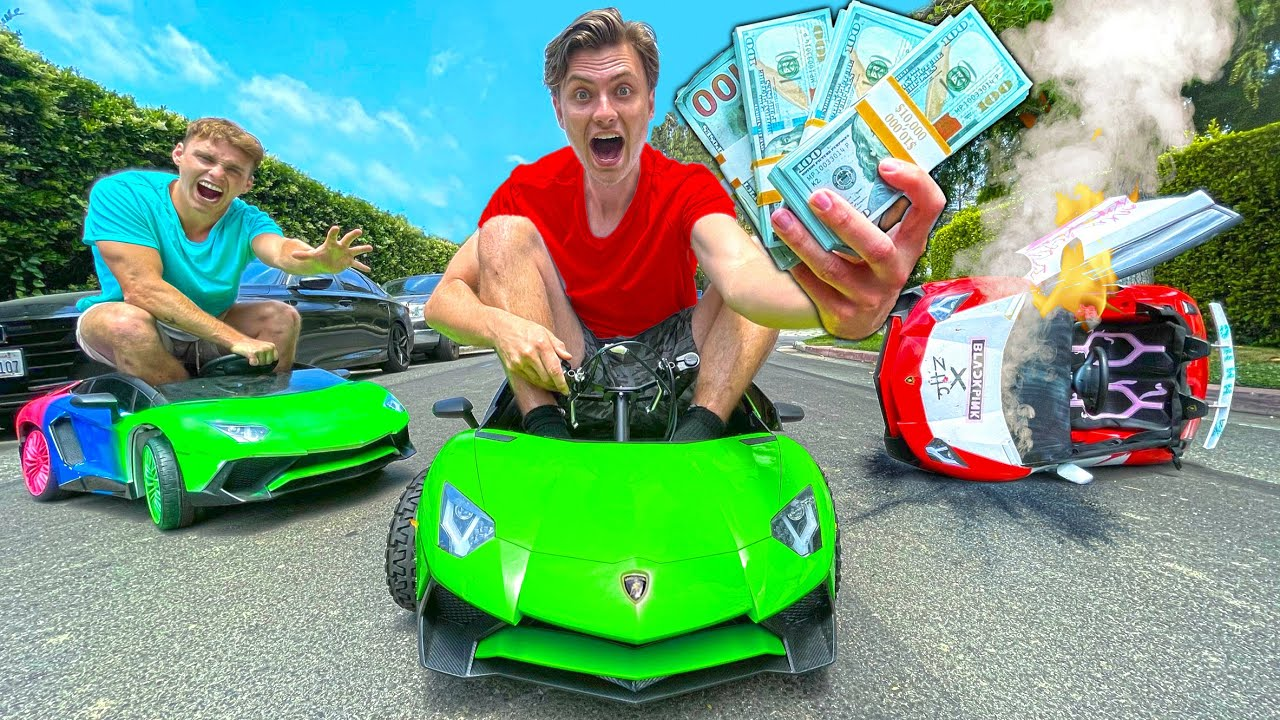 LAST TO STOP DRIVING MINI LAMBO WINS $10,000