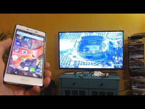 Samsung 4K MU6290 | Phone to TV Display Mirroring Wireless Demo (MU6300)