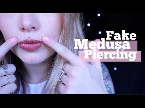 DIY Fake Medusa Piercing