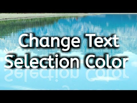 how to change text selection color in html and css
