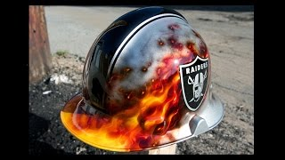How To Airbrush Fire on a Custom Fireman Helmet
