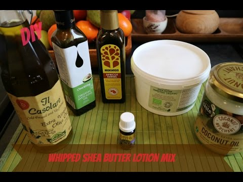 DIY: Whipped Shea butter lotion mix for hair and body