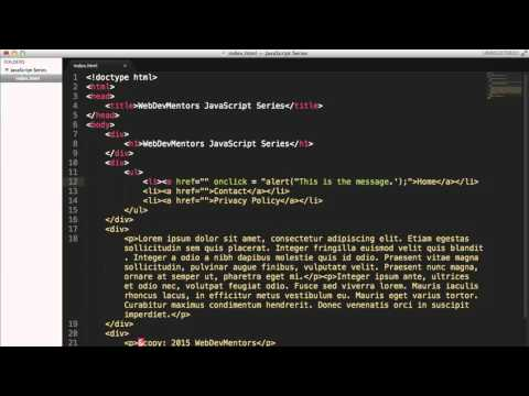 Embedded and Inline Javscript