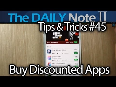 Samsung Galaxy Note 2 Tips & Tricks Episode 45: Save Money On Apps With AppSales App