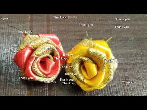 How to make rose flowers for hair brooch / hair accessories