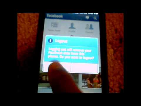 How to log out of facebook on samsung captivate