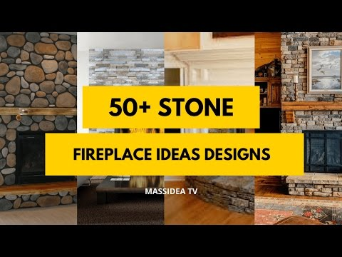 50+ Best Stone Fireplace Ideas Designs 2018