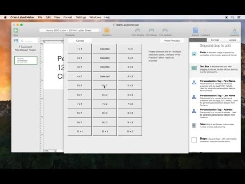 Print labels from Mac: How to print labels to selected spots on the template sheet