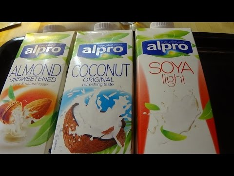 Milk alternatives - soy, almond or coconut: which non-dairy milk is best?Live Test part 1