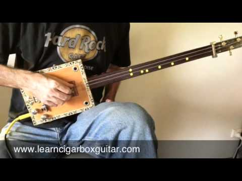 How To Play Midnight Special on a Cigar Box Guitar