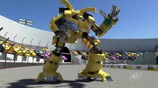 LEGO Cars Team CRUZ RAMIREZ Fight HULK Superheroes Olympics — Lightning McQueen Races Jackson Storm