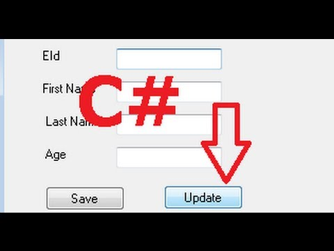C# Tutorial 7: Edit/Update a data from Database with button