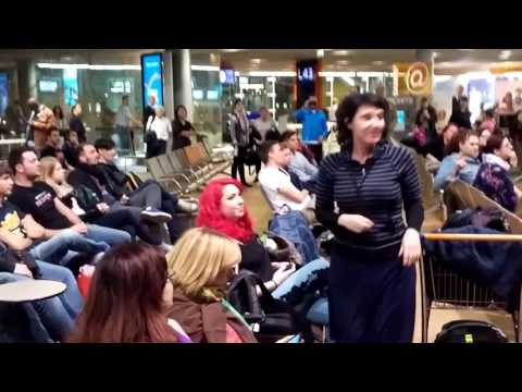 Disney's Frozen flash mob at Paris CDG airport