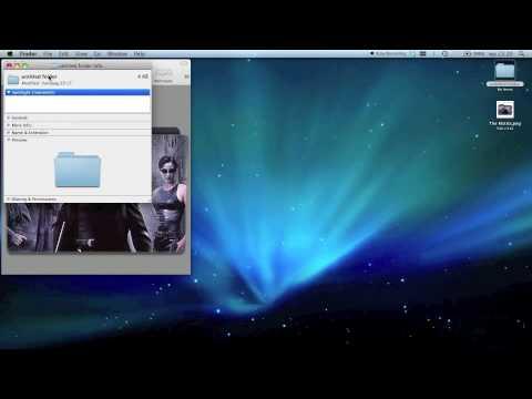 applying a custom folder icon (mac os x)