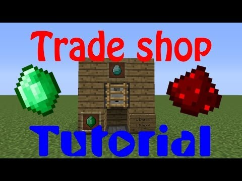 How to make a trade shop in minecraft