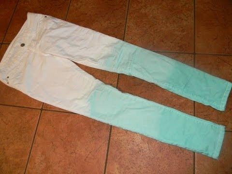 DIY Dip Dyed Pants! (Mint Dipped)
