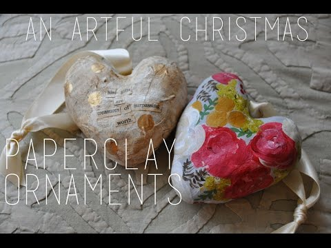 An Artful Christmas | Paperclay Ornament Tutorial | Emma Will