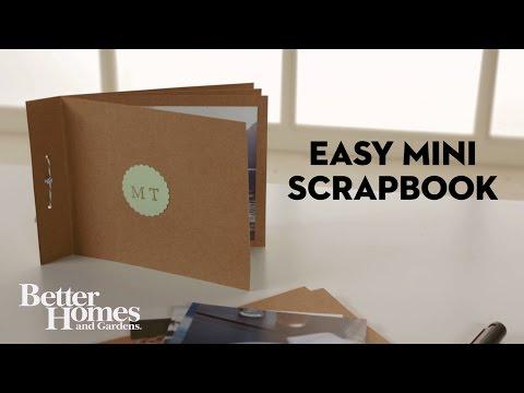 Easy Mini Scrapbook