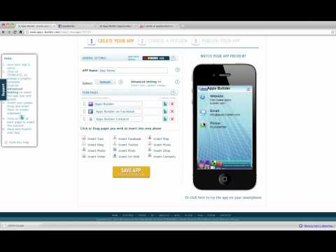 [VERS ENG] Apps Builder Tutorial: How to create iPhone Android Windows Mobile Apps and HTML5 WebApp