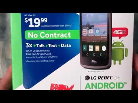 Tracfone LG Rebel Unboxing