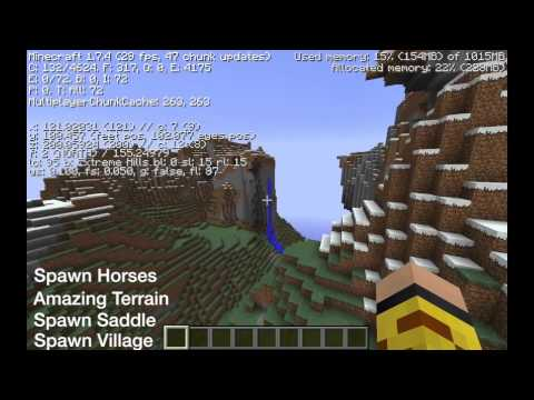 1.7.4 EPIC SEED - VILLAGE, HORSES, MINESHAFT, MOUNTAINS, CAVES...