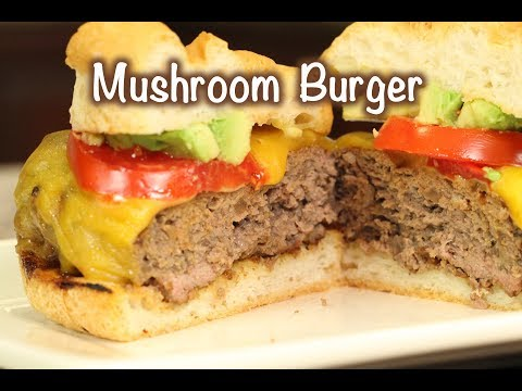 How To Make A Mushroom Beef Burger With Caramelized Onion | Rockin Robin Cooks