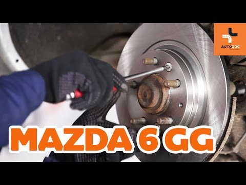 How to replace rear brake discs and brake pads Mazda 6 GY TUTORIAL | AUTODOC