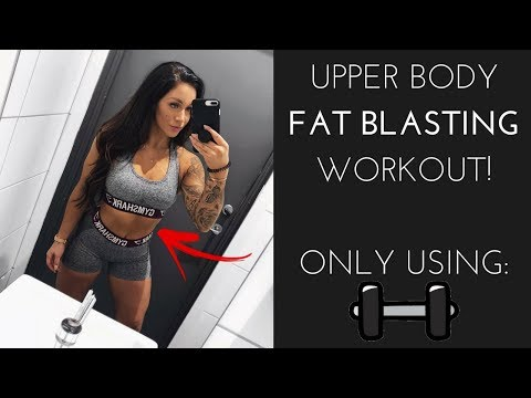 UPPER BODY FAST BLASTING WORKOUT - DUMBBELLS ONLY! FAST & EASY