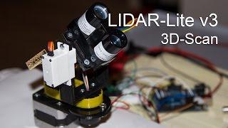 LIDAR-Lite v3 - 3D-Scan