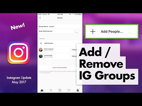 Add/Remove People Instagram Groups