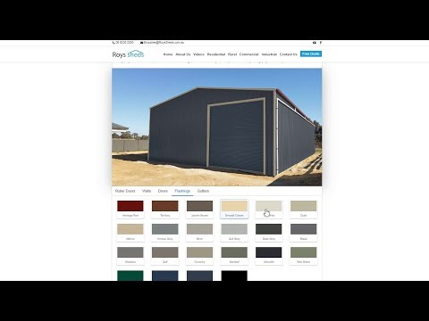 Shed Colour Combination Visualiser Tool