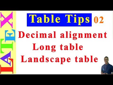 Table Formatting in Latex-02 (LaTeX: Tips/Solution-25)