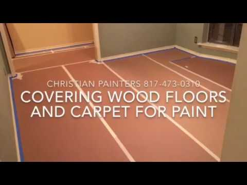 COVERING WOOD FLOORS AND CARPET FOR PAINT